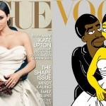 Kim Kardashian y Kanye West al estilo de Los Simpsons