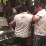 Farándula colombiana peleando en Brasil