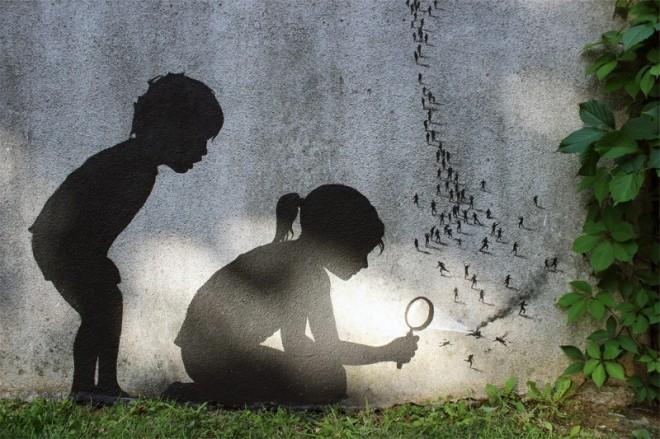 Creativas obras de arte urbano en Paris