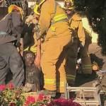 Mujer quedó atrapada en la chimenea de la casa