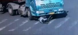 ¡Increíble! Un ciclista se salvó de la muerte de una manera milagrosa