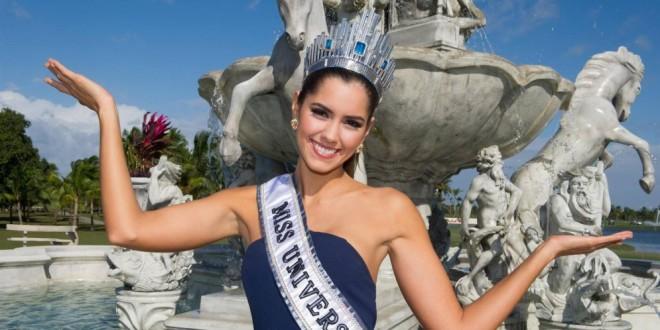 La señorita Colombia y nueva Miss Universo Paulina Vega le hizo una visita a sus nuevos jefes