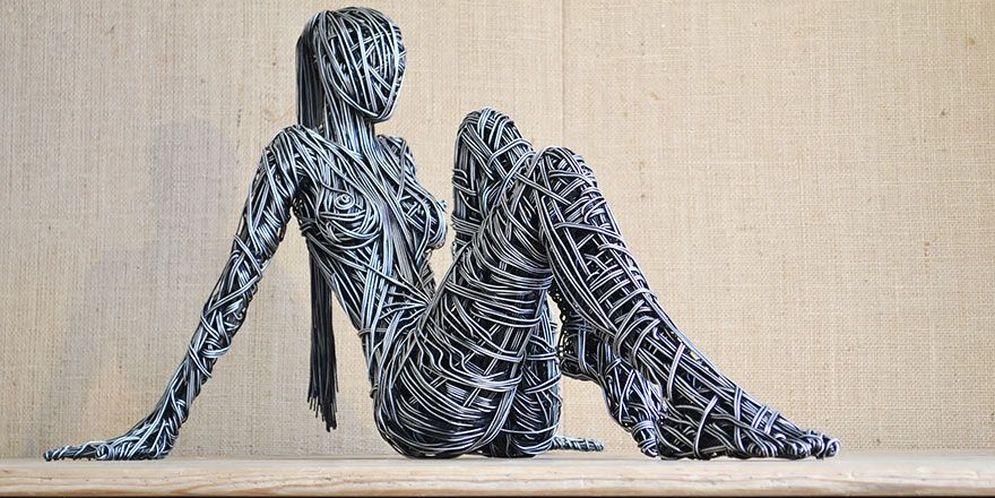 El alambre toma vida en estas asombrosas esculturas