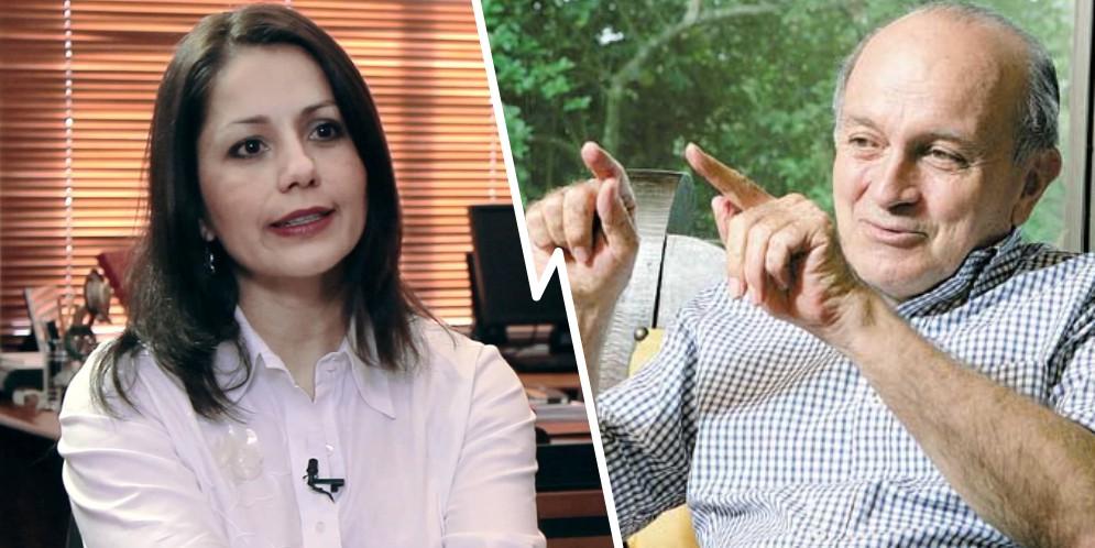 Claudia Morales y Gustavo Álvarez Gardeazábal
