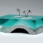 Impactantes esculturas en láminas de vidrio