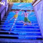 Subir escaleras nunca fue tan artístico y sorprendente