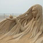 Maravillosas esculturas hechas en arena