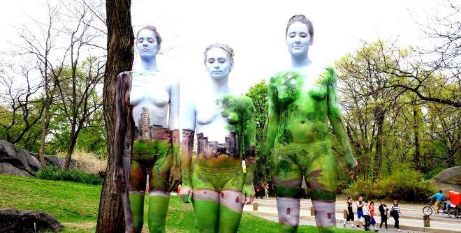 El camuflaje también es un arte. Sorprendentes fotos de pintura corporal