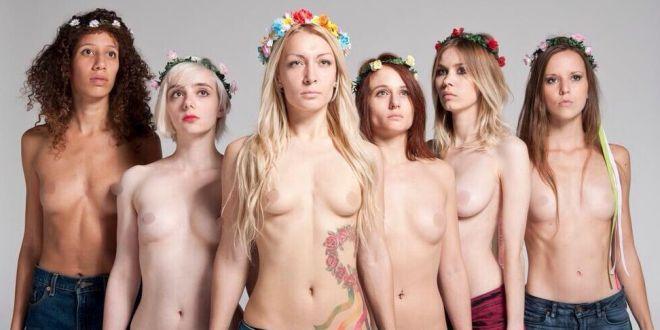 activistas de Femen casi las matan por manifestarse en el lugar equivocado