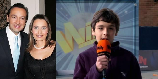 Video: El hijo de Inés María Zabaraín y Jorge Alfredo Vargas resultó excelente periodista