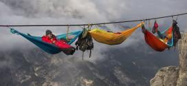 ¿Serías capaz de descansar en estas hamacas suspendidas a una altura espeluznante?