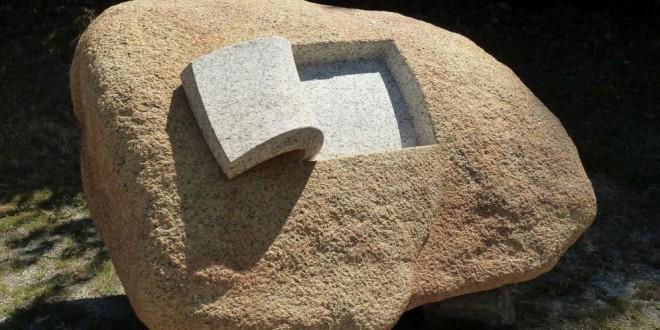 Hasta las piedras tienen su lado blando. Así fue como un artista lo expresó