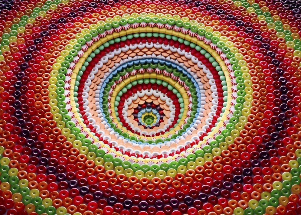 La comida hecha un arte de gran colorido y simetría