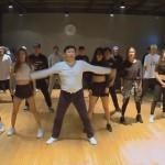 psy y su grupo de baile