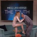 Ariadna Gutierrez golpeando a Steve Harvey