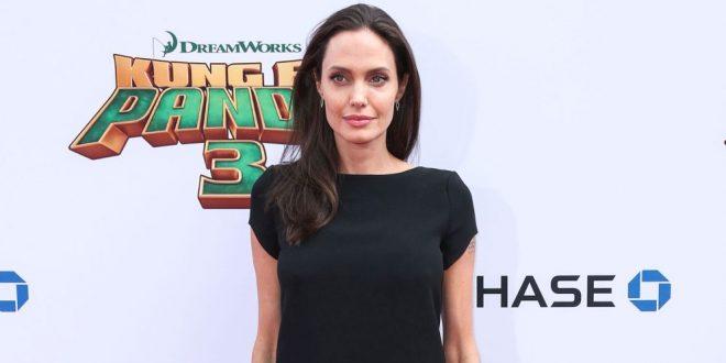 Elegante pero aún muy delgada, la figura de Angelina Jolie sigue impactando