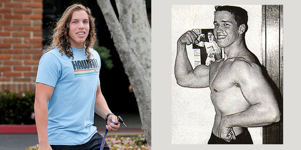 últimas fotos de Joseph Baena, el hijo de Arnold Schwarzenegger