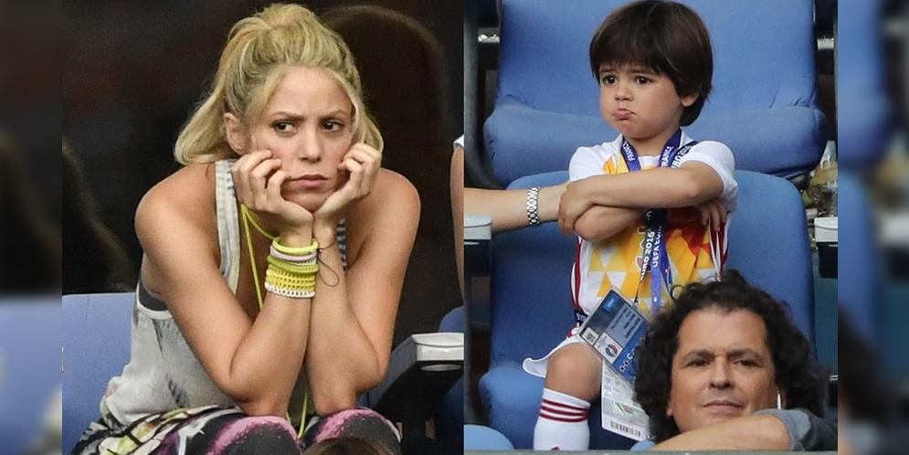 Shakira y sus dos hijos