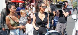 El hijo de Kim Kardashian, Saint, por primera vez se une a las grabaciones del reality en público