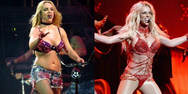 Evolución del cuerpo de Britney Spears. La princesa del pop impactó con su cuerpo en su último video