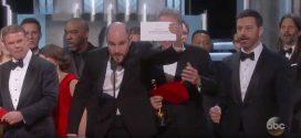 Con un vergonzoso error finalizó la entrega de los Premios Óscar 2017